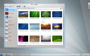 KDEデスクトップ画面